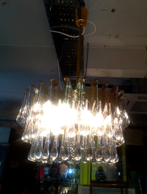 Vintage teardrop ceiling light, £480